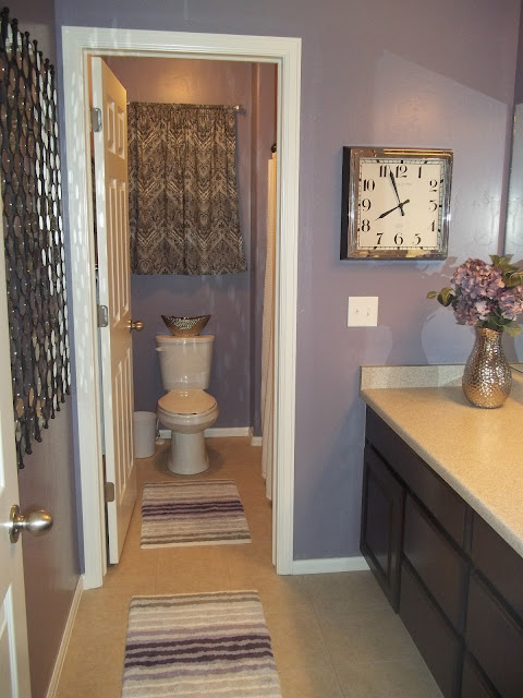 Lori and lisa 39 s decor purple bathroom for Bathroom decor ross