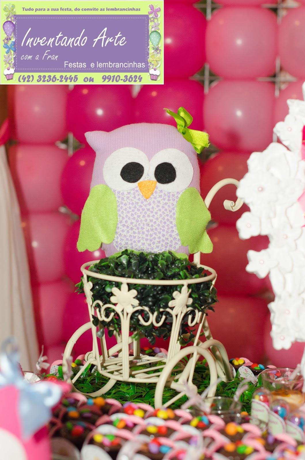 festa decoração corujas corujinhas