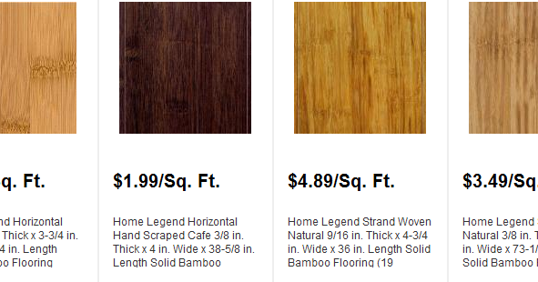 Bamboo Flooring Per Square Foot Installed Prices