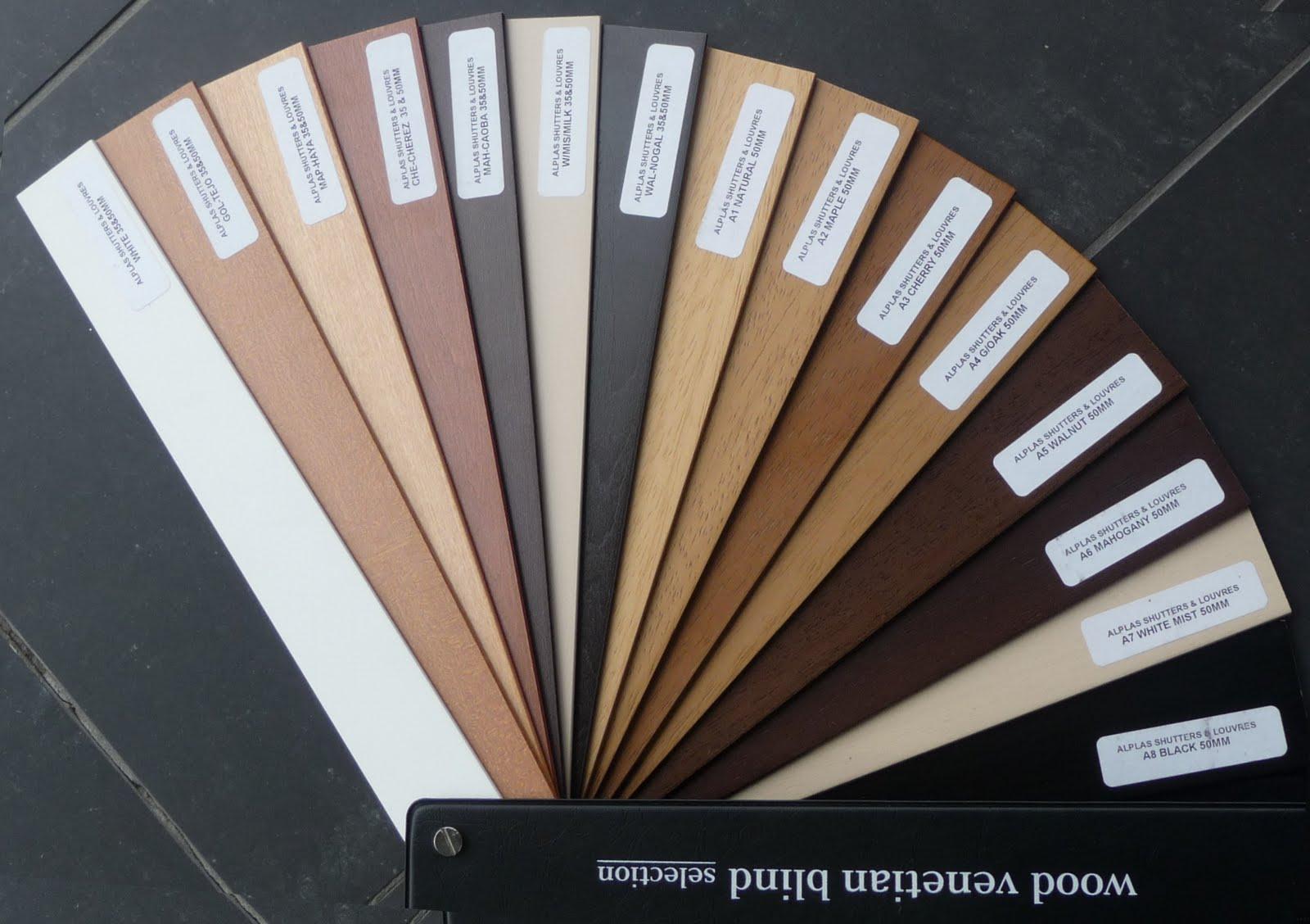Alplas Blinds Louvres Wood Venetian Blind Colour Range From Alplas