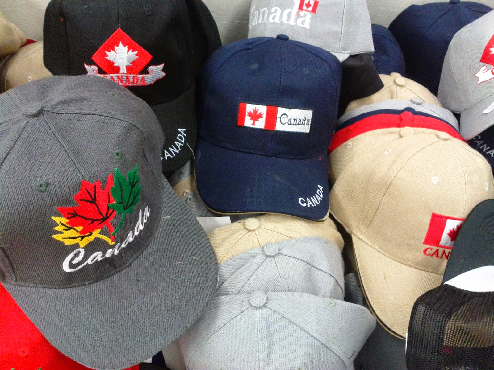 Stock photo: Baseball caps hats of Canada