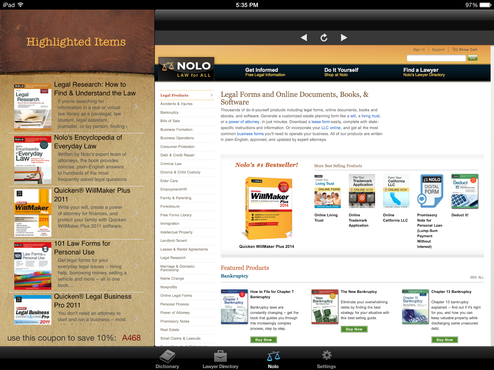 SpotOn Legal Research Mobile Apps For Legal Research Nolos - Law forms for personal use