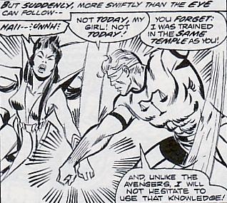 Avengers #123, Mantis versus Libra