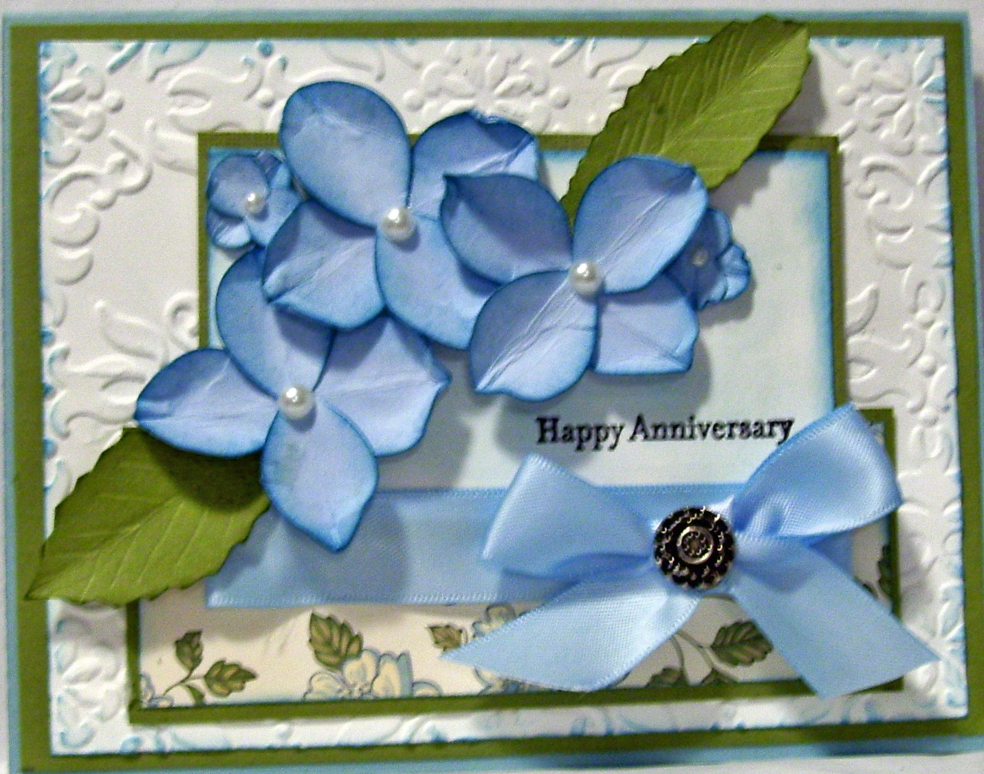 Crafty Maria's Stamping World: Hydrangea Anniversay Card