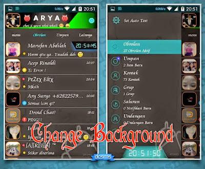 BBM MOD Droid Chat! v3.5.05 Tron Legacy Blue v2