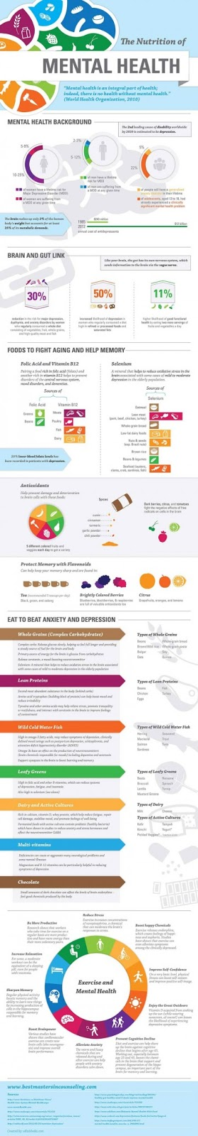 The diet of the mental health infographic