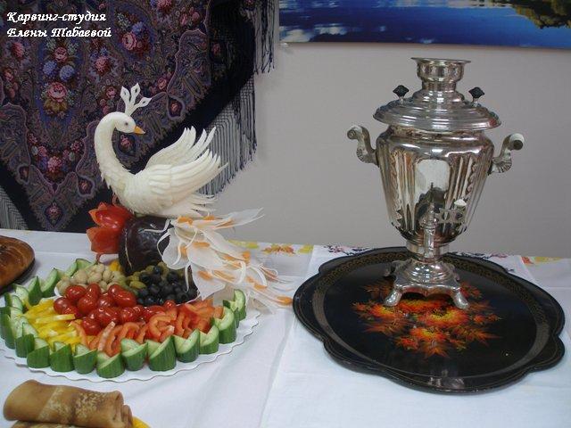 фигуры из овощей и фруктов русский карвинг