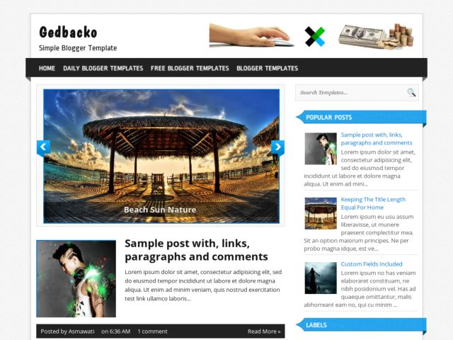 Gedbacko Blogger Template
