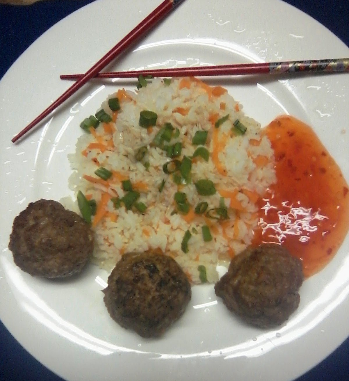 asian turkey meatballs with carrot rice 2 cp long grain rice 2 carrots ...