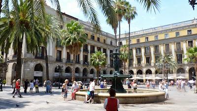 Plaza del Rey, Barcelona, España