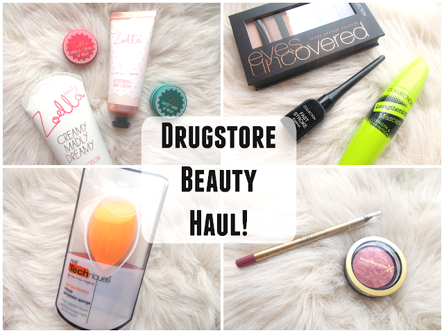 Drugstore Beauty Haul including Zoella Beauty, Collection, Max Factor & Real Techniques!
