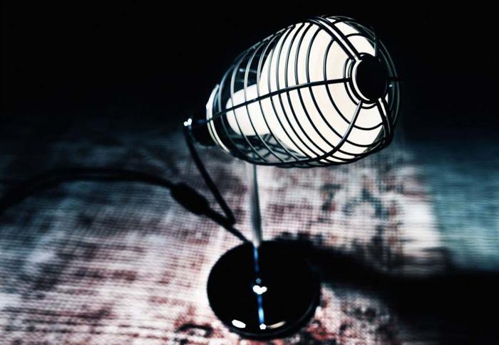 lampara de taller- jaula-vintage de diseño industrial -cage foscarini diesel