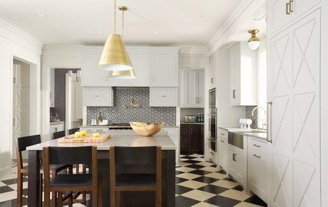 The Granite Gurus: 10 Kitchens with Checkerboard Floors