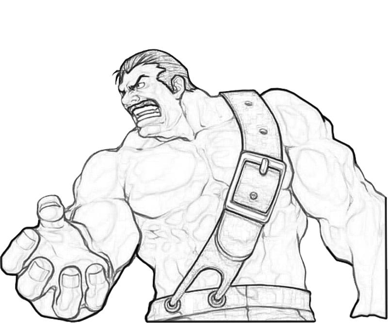 haggar-strong-coloring-pages