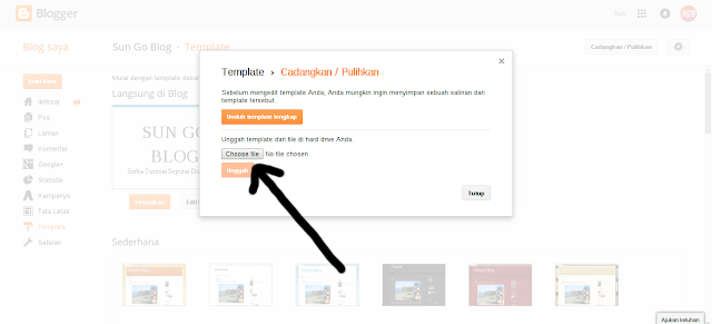 Cara upload tema blogspot