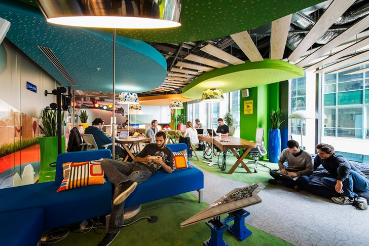 Themed resting room in Google office in Dublin