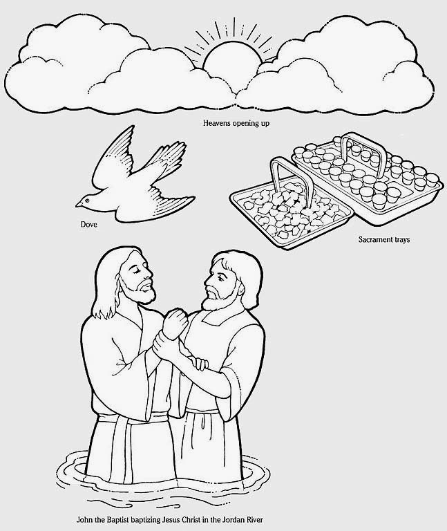 childrens coloring pages baptism - photo#20