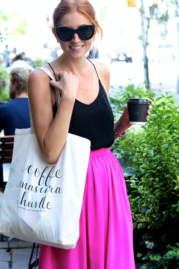 Fuchsia midi, Dayna Lee Collection Tote at the Toronto Club Monaco Market