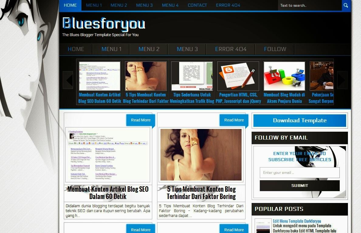 Bluesforyou Blogger Template Geotemplate Free Download Wordpress