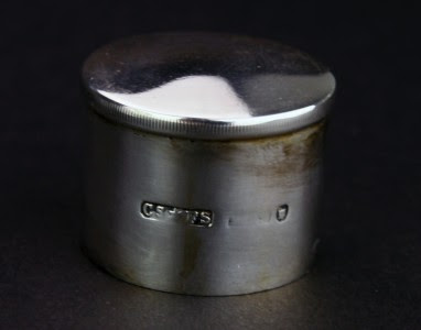 ANTIQUE 19thC SOLID SILVER & MOTHER OF PEARL TEA CADDY BOX, LONDON c.1895