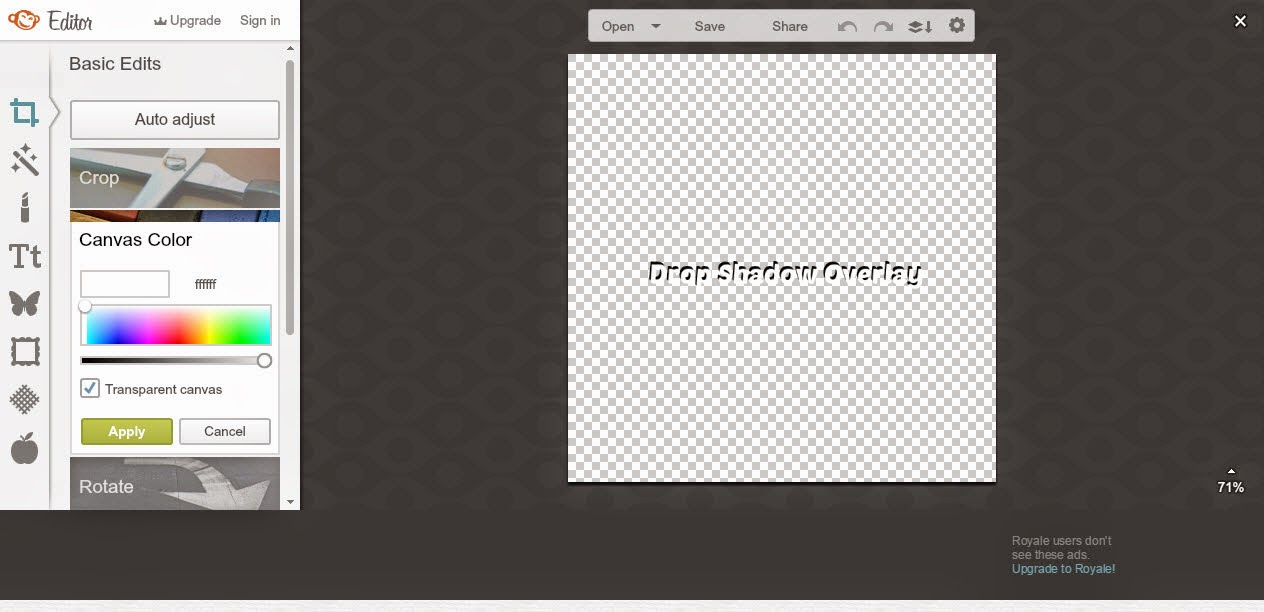 Alanna & Company: How to Make Drop Shadow Text and Watermarks in PicMonkey