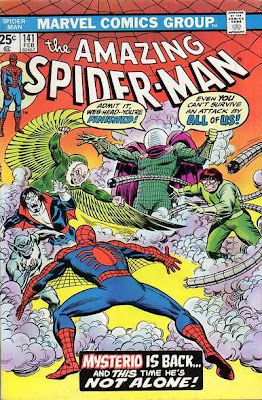 Amazing Spider-Man #141. Mysterio, Dr Octopus, the Jackal, the Vulture and Morbius