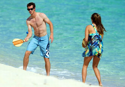 andy murray with girlfriend bahama beach