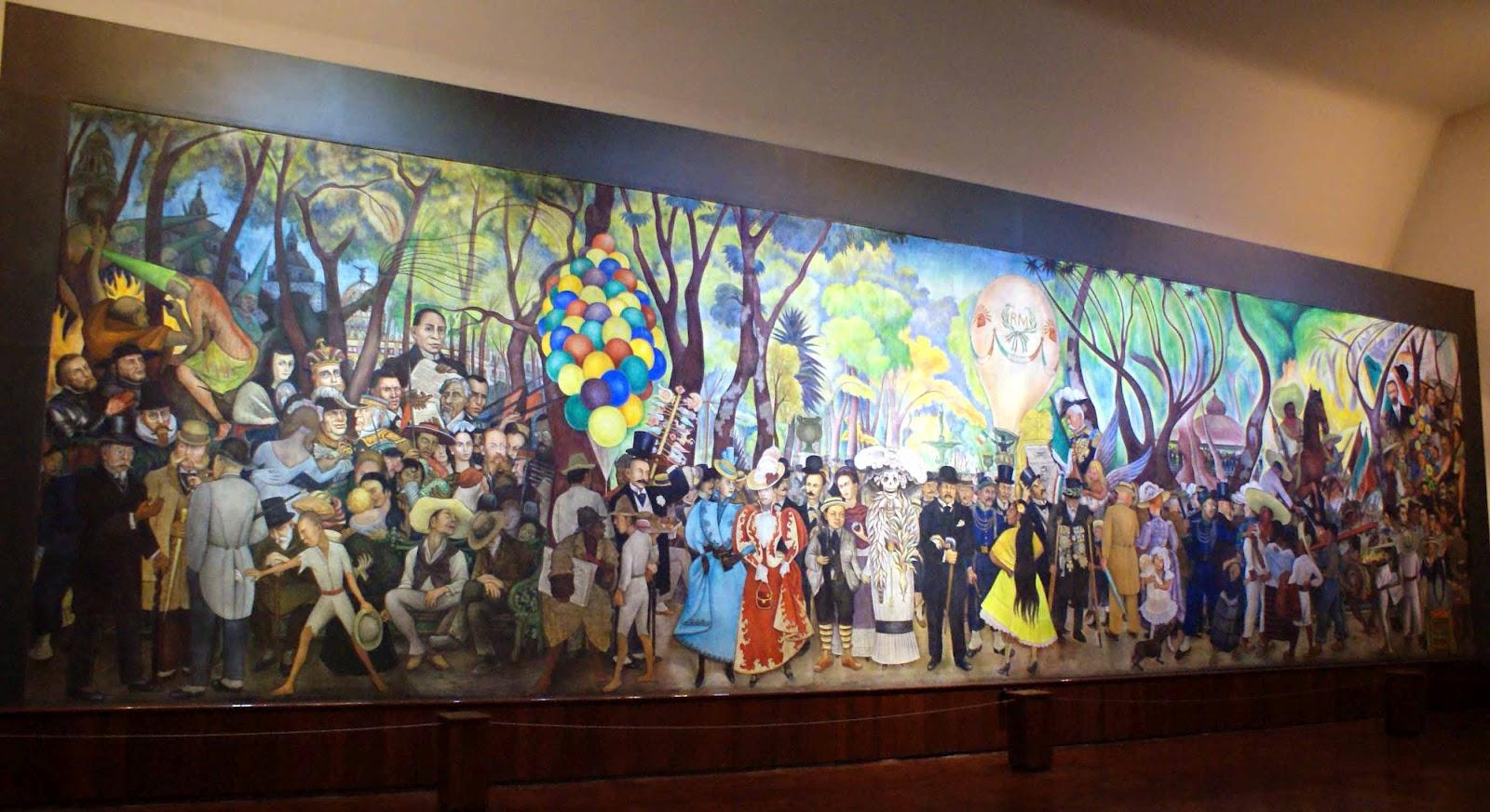 Museo mural diego rivera en la alameda caminando por la for Mural muraux