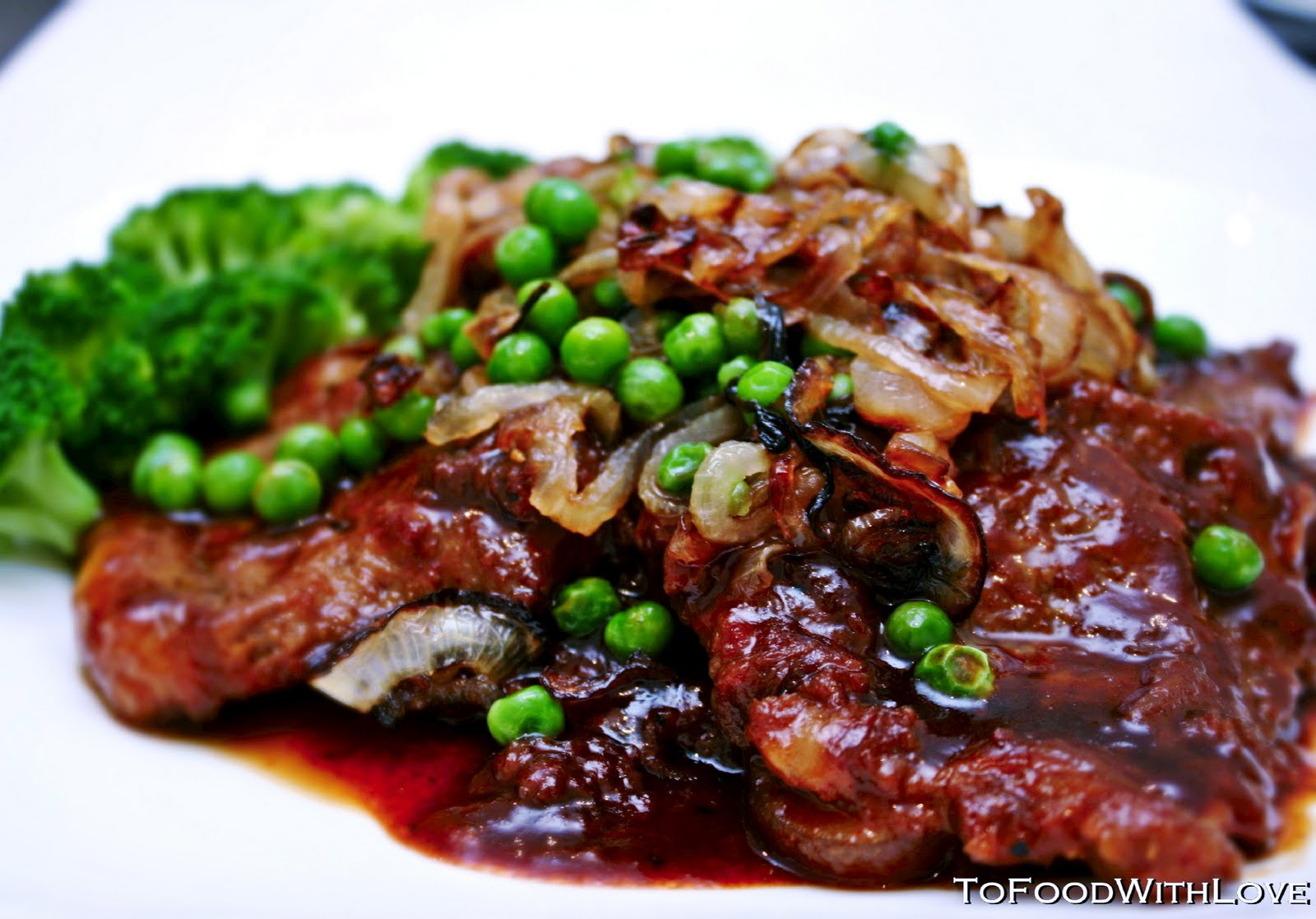 To food with love chinese beef steak with peas and caramelized onions chinese beef steak with peas and caramelized onions forumfinder Choice Image