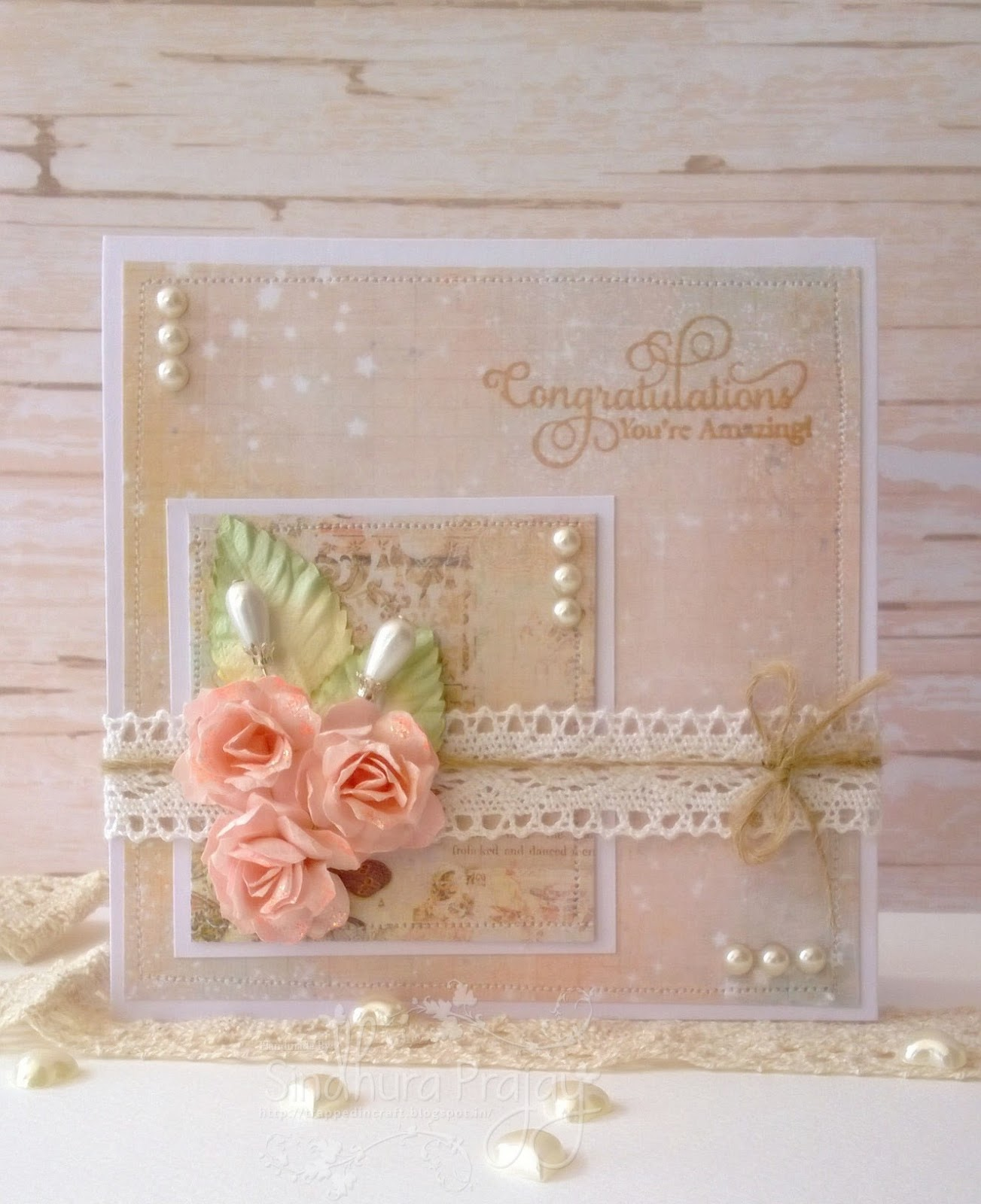 crafters corner shabby chic card with a matching box. Black Bedroom Furniture Sets. Home Design Ideas