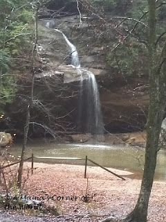 Waterfalls at Old Man's Cave in Ohio's Hocking Hills