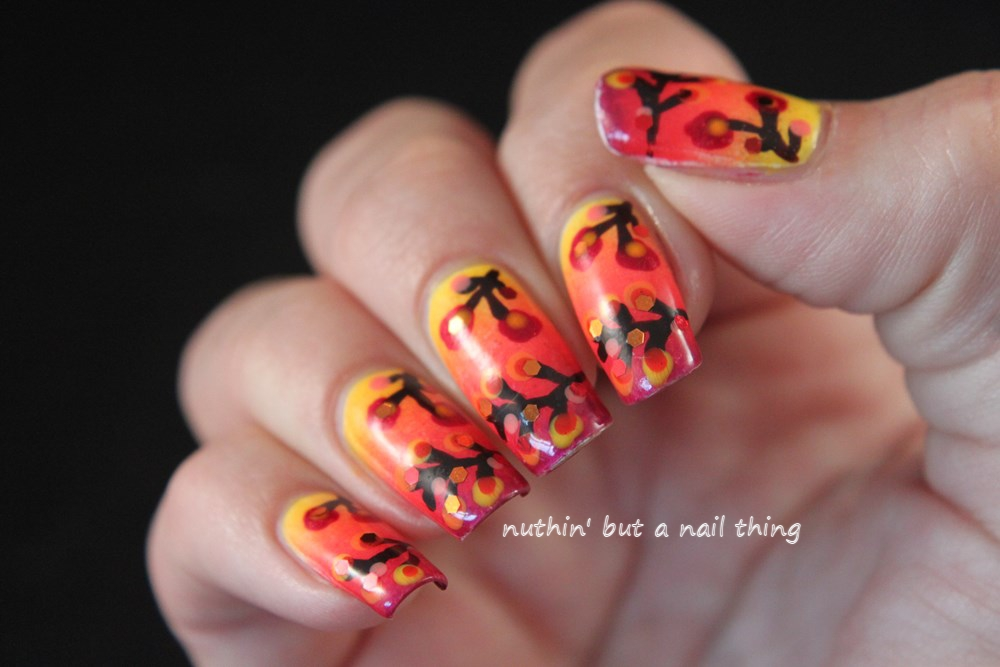 nuthin\' but a nail thing: Autumn inspired nail art tutorial