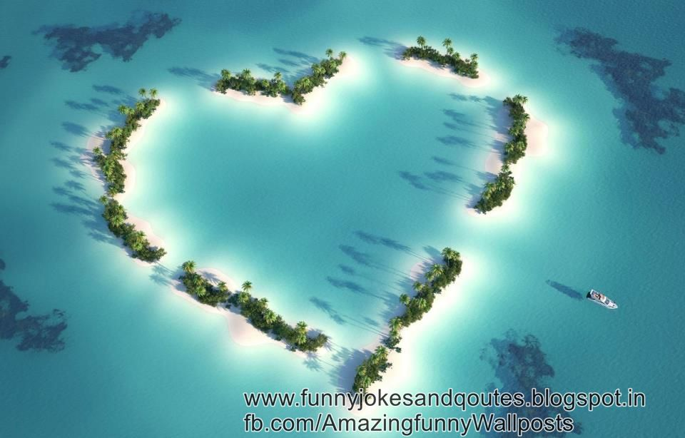 An Island With Love Symbol Very Amazing And Cool Mobile Java