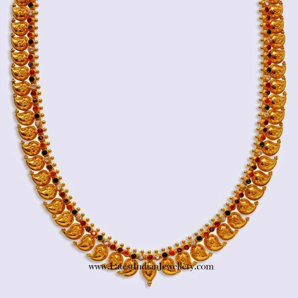 Navarathna Stones Mango Mala