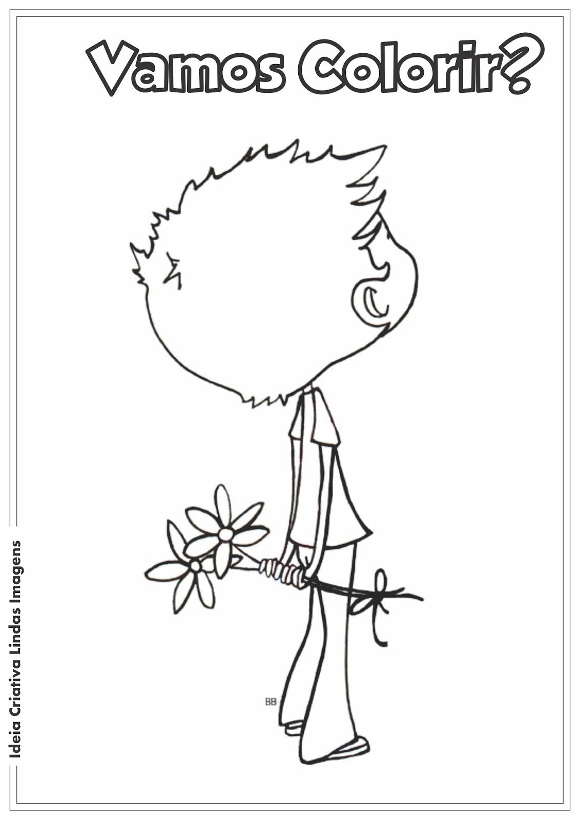 Dia dos pais/Dia das mães desenho para colorir