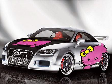 Gambar Lucu Mobil Hello Kitty Terbaru Wallpaper Mobil Hello Kitty Honda