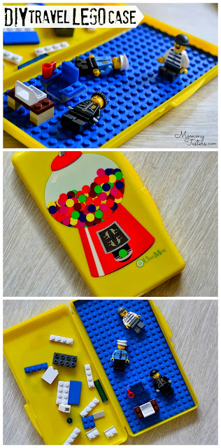 DIY Travel Lego Case, What to do with old baby wipes cases, DIY Lego Box, Travel Legos, Wipebox wipes case, Fun wipes case,