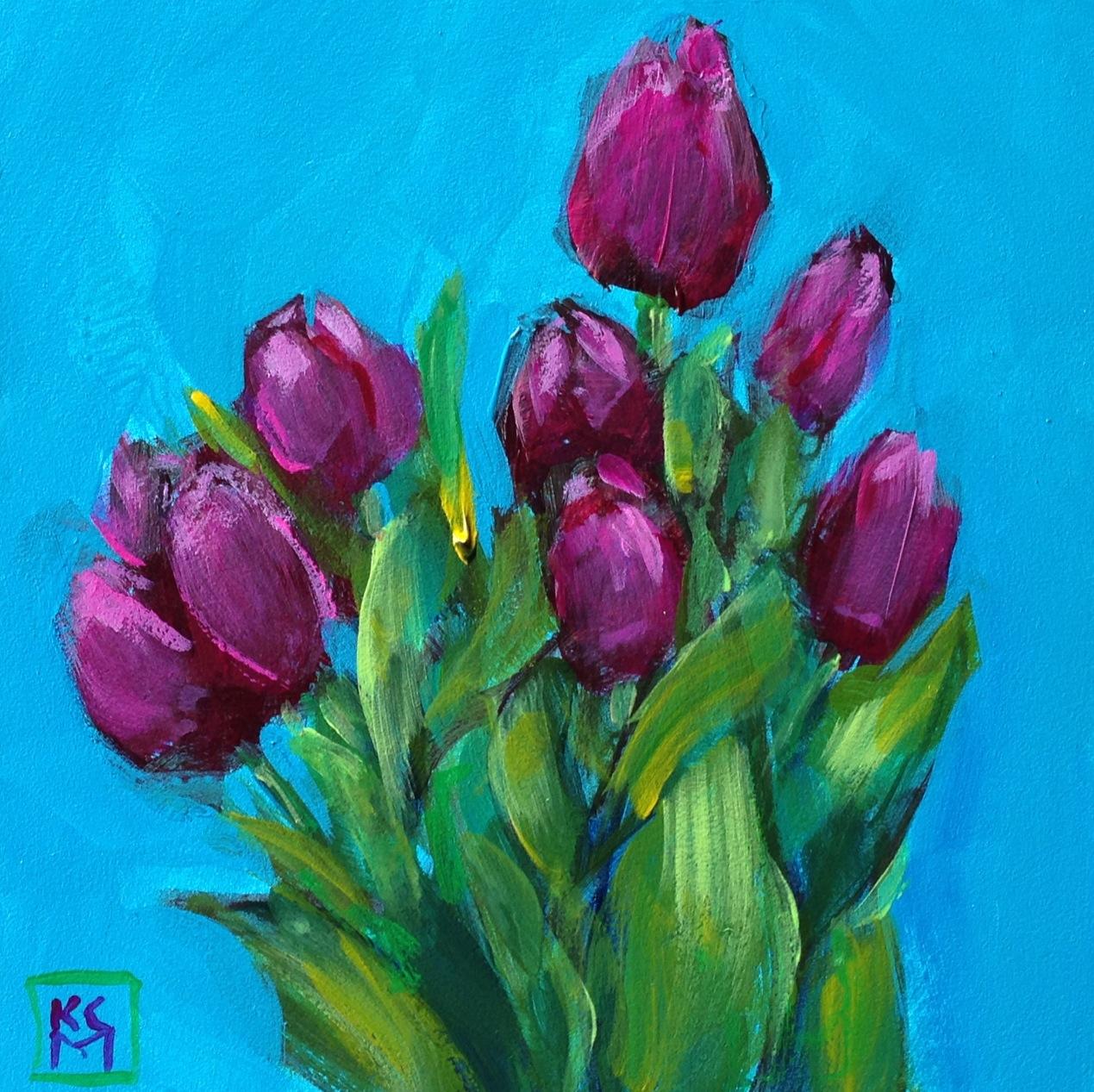 Tulip Acrylic Painting Tutorial
