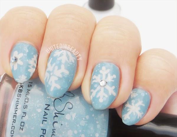 KBshimmer Snowflake Nails