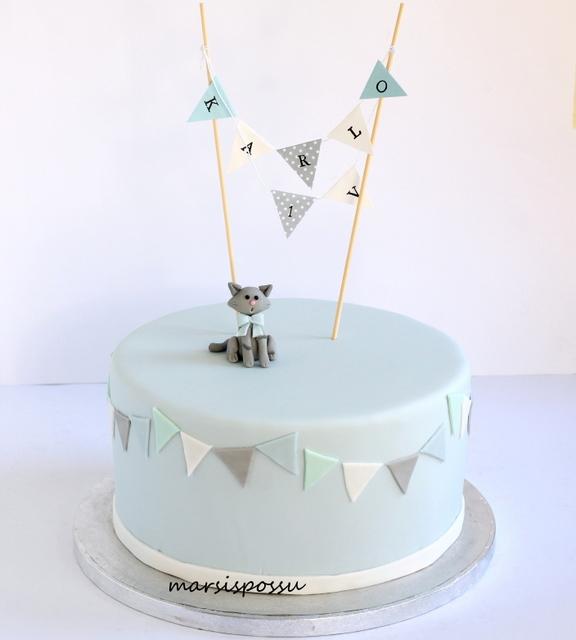 Kakku 1-vuotissynttäreille