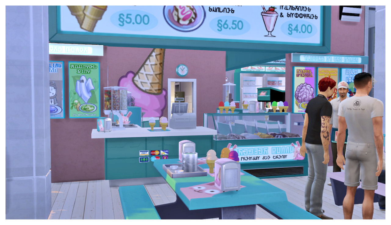 sims 4 cc's - the best: freezer bunny ice cream stand and objects, Badezimmer ideen