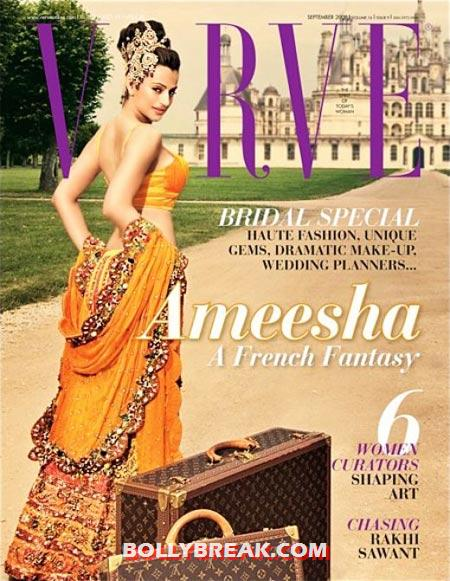 Ameesha Patel on the cover of Verve magazine - (4) - Ameesha Patel's Hottest Magazine Covers 