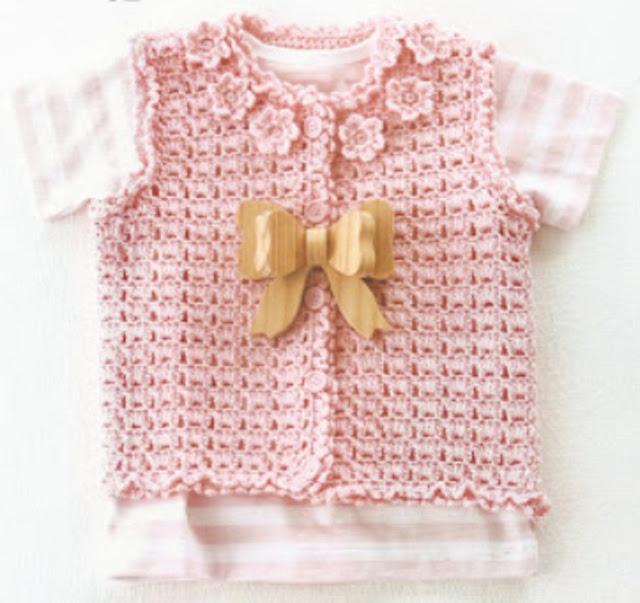 As Receitas de Crochê: Coletinho de croche para bebe