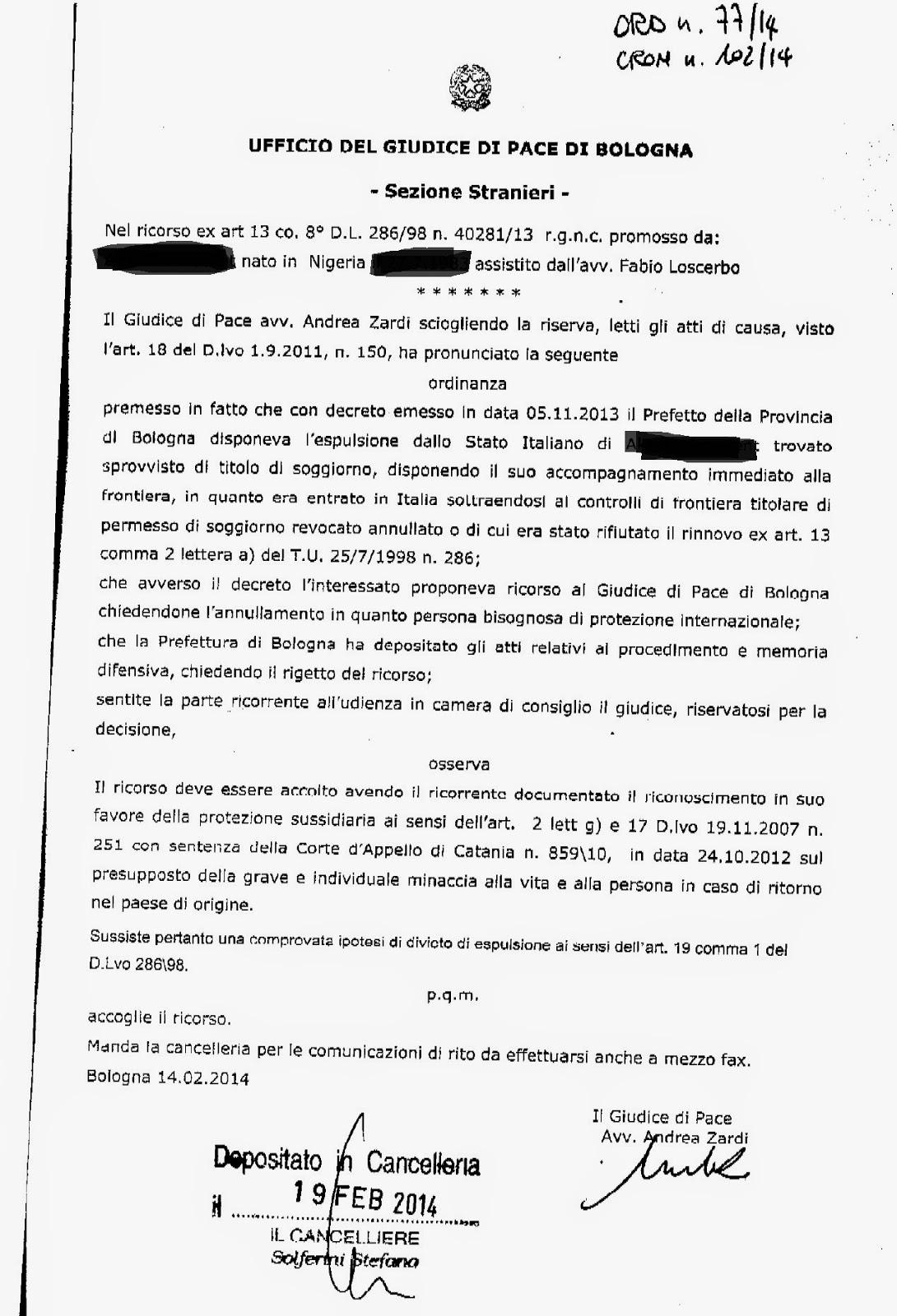 PERMESSO DI SOGGIORNO - RINNOVO - OMESSA NOTIFICA DEL PREAVVISO DI ...