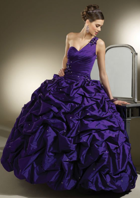 Shining Purple Ball Gowns