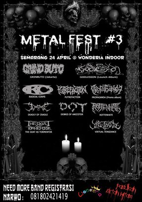 pict- Metal Fest #3 @ Semarang (Need More Band)
