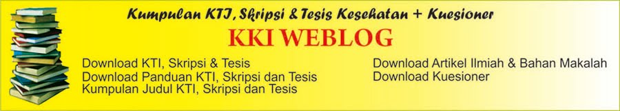 Download KTI Kesehatan | Download Skripsi Kesehatan | Download Tesis Kesehatan