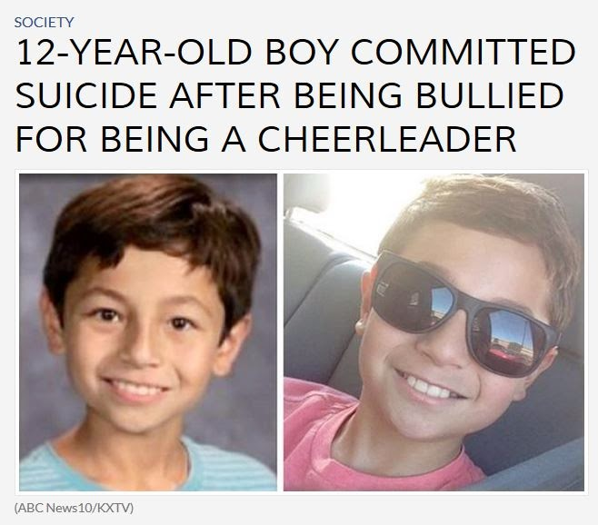 http://abc13.com/society/12-year-old-boy-kills-himself-after-being-bullied-for-being-a-cheerleader/424020/