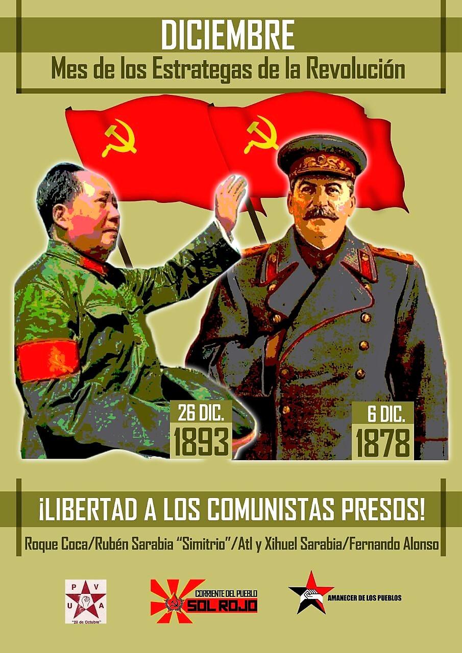 Con Stalin y Mao... ¡Hacia la toma del poder!