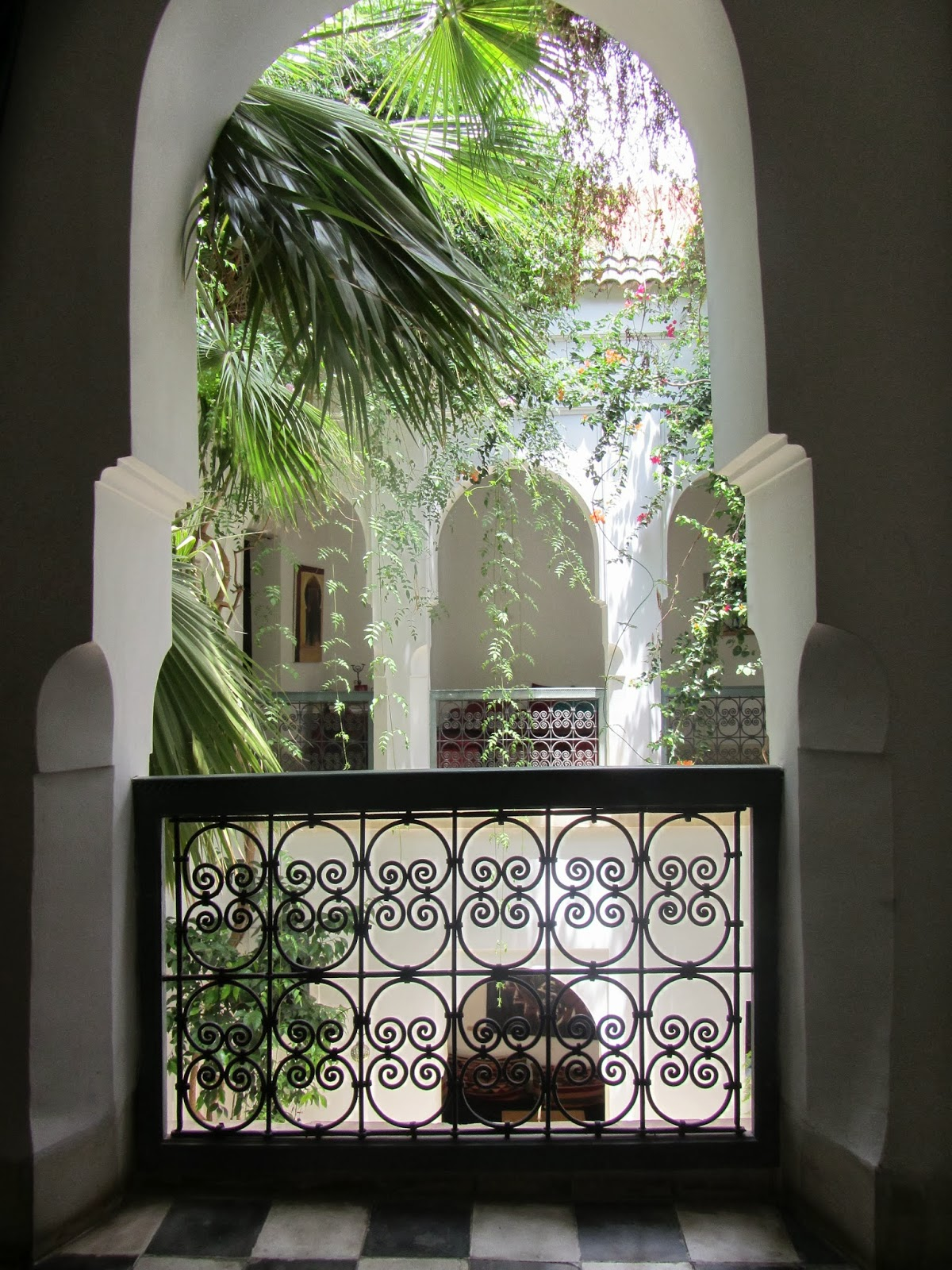 The Use Of Decorative Wrought Iron In Riads, Or Fer Forgé